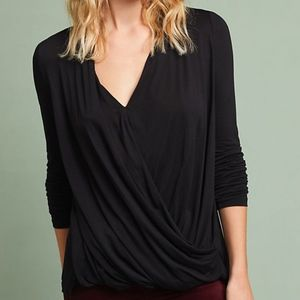 Anthropologie - NWT Spacedyed Wrap Top